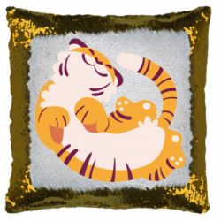 Подушка-хамелеон Happy tiger