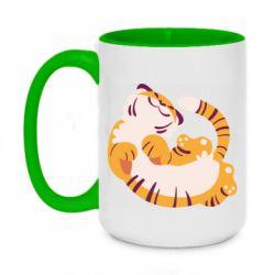 Кружка двоколірна 420ml Happy tiger