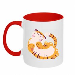 Кружка двоколірна 320ml Happy tiger