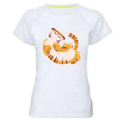 Женская спортивная футболка Happy tiger