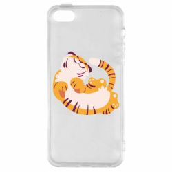 Чохол для iphone 5/5S/SE Happy tiger