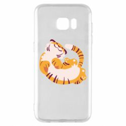 Чохол для Samsung S7 EDGE Happy tiger