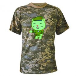 Камуфляжная футболка happy tree friends flippy