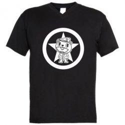 Мужская футболка  с V-образным вырезом Happy Tree Friends - FatLine