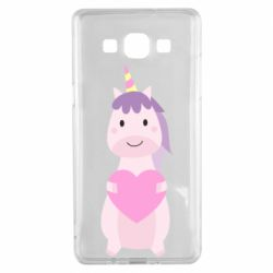 Чехол для Samsung A5 2015 Happy unicorn with a heart