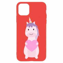 Чехол для iPhone 11 Pro Happy unicorn with a heart