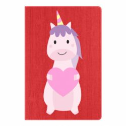 Блокнот А5 Happy unicorn with a heart