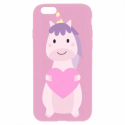 Чехол для iPhone 6 Plus/6S Plus Happy unicorn with a heart