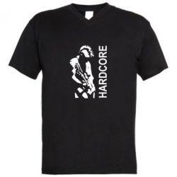 Мужская футболка  с V-образным вырезом Harcore - FatLine