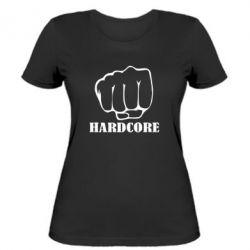 Женская футболка hardcore - FatLine
