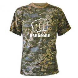 Камуфляжна футболка hardcore - FatLine