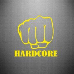 Наклейка hardcore - FatLine