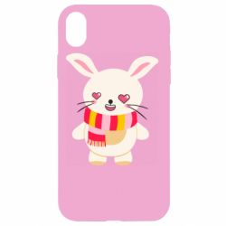 Чехол для iPhone XR Hare and heart