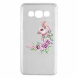 Чехол для Samsung A3 2015 Hare in profile with flowers