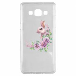 Чехол для Samsung A5 2015 Hare in profile with flowers