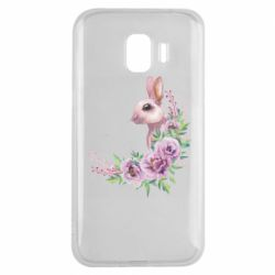 Чехол для Samsung J2 2018 Hare in profile with flowers