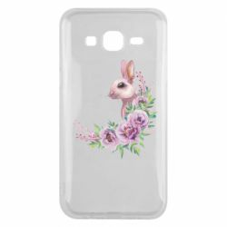 Чехол для Samsung J5 2015 Hare in profile with flowers
