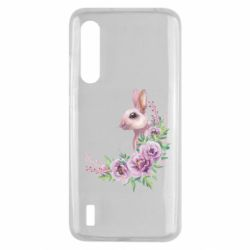 Чехол для Xiaomi Mi9 Lite Hare in profile with flowers