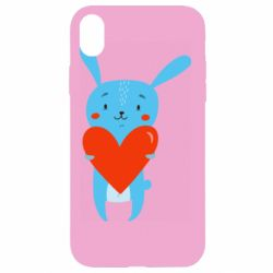 Чехол для iPhone XR Hare with a heart