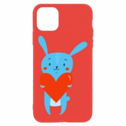 Чохол для iPhone 11 Hare with a heart