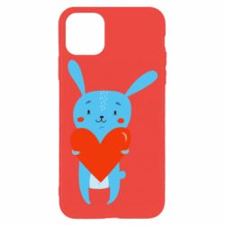 Чехол для iPhone 11 Pro Hare with a heart