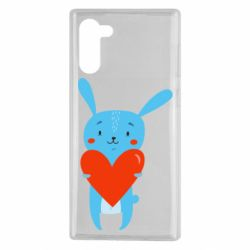 Чехол для Samsung Note 10 Hare with a heart