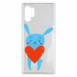 Чохол для Samsung Note 10 Plus Hare with a heart