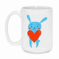 Кружка 420ml Hare with a heart