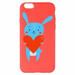 Чехол для iPhone 6 Plus/6S Plus Hare with a heart