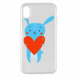 Чехол для iPhone X/Xs Hare with a heart