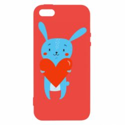 Чехол для iPhone5/5S/SE Hare with a heart
