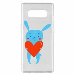 Чехол для Samsung Note 8 Hare with a heart