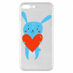 Чехол для iPhone 8 Plus Hare with a heart