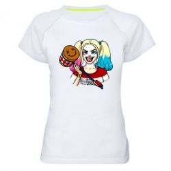 Купить LIMSIT, Женская спортивная футболка Харли Квинн, FatLine
