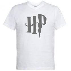 Чоловіча футболка з V-подібним вирізом Harry Potter logo 1