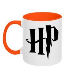 Кружка двоколірна 320ml Harry Potter logo 1