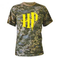 Камуфляжна футболка Harry Potter logo 1