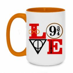 Кружка двоколірна 420ml Harry Potter love