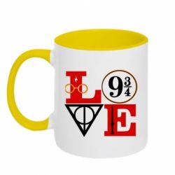 Кружка двоколірна 320ml Harry Potter love