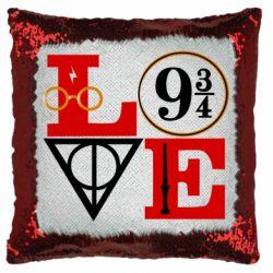Подушка-хамелеон Harry Potter love
