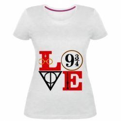Жіноча стрейчева футболка Harry Potter love
