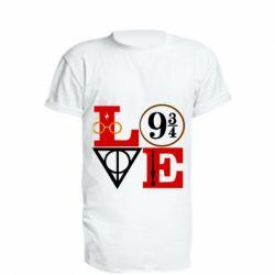 Подовжена футболка Harry Potter love