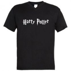 Мужская футболка  с V-образным вырезом Harry Potter - FatLine