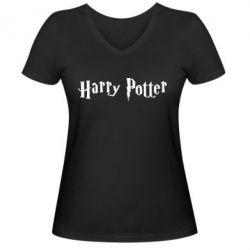 Женская футболка с V-образным вырезом Harry Potter - FatLine