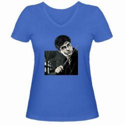 Женская футболка с V-образным вырезом Harry Potter