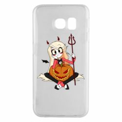 Чехол для Samsung S6 EDGE Hazbin Hotel Charlie and pumpkin