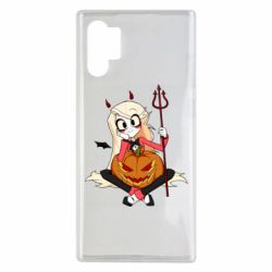 Чехол для Samsung Note 10 Plus Hazbin Hotel Charlie and pumpkin