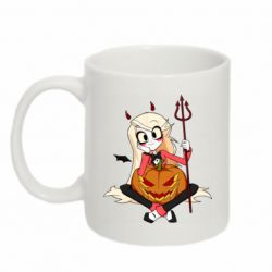 Кружка 320ml Hazbin Hotel Charlie and pumpkin