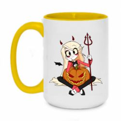 Кружка двухцветная 420ml Hazbin Hotel Charlie and pumpkin