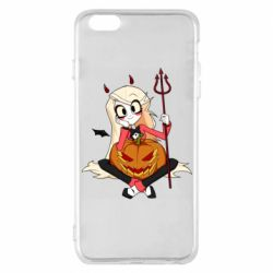 Чехол для iPhone 6 Plus/6S Plus Hazbin Hotel Charlie and pumpkin